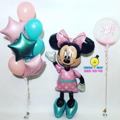 Набор Минни Маус розовая из шаров