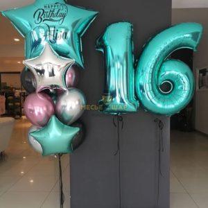 Набор на 16-летие из воздушных шариков