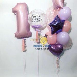 Нежность-то какая - набор из воздушных шаров