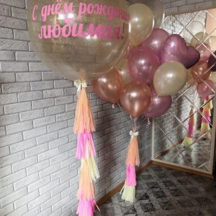 Персиковое настроение - набор из воздушных шаров