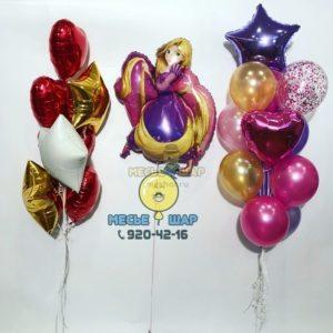 Хромовая красота - набор из воздушных шаров