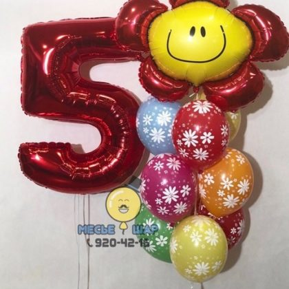 Ромашковое счастье - набор из воздушных шаров