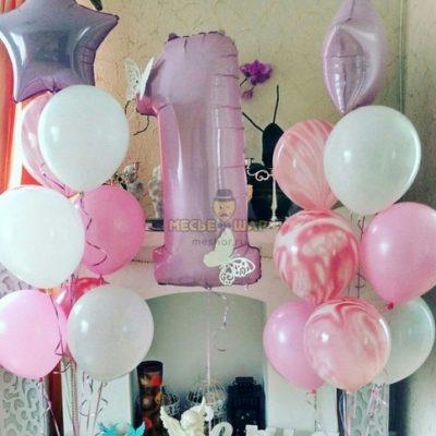 Розовая Бабочка - набор из воздушных шаров