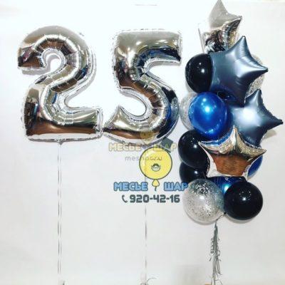 Серебристая лазурь - набор из воздушных шаров