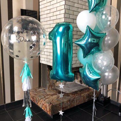 Шары на 1 день рождения