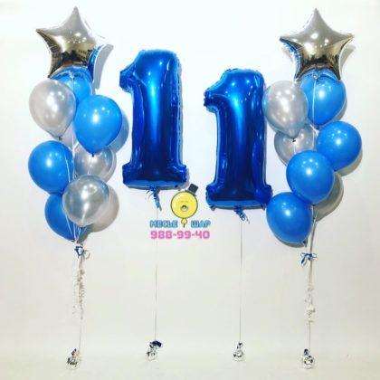 Синее счастье из шаров