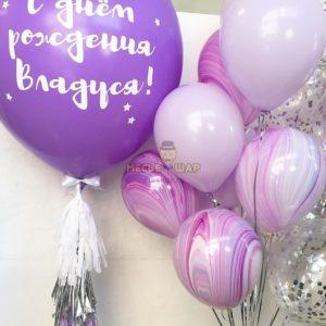 Сиреневый набор из воздушных шаров