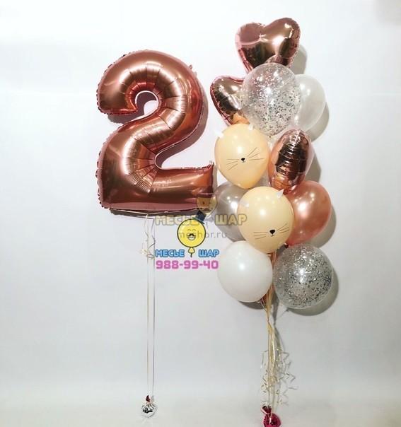 Сладкие кошечки - набор из воздушных шаров