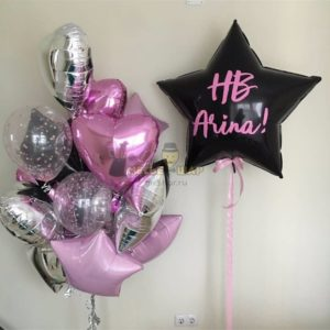 Стильный набор для девушек из воздушных шаров