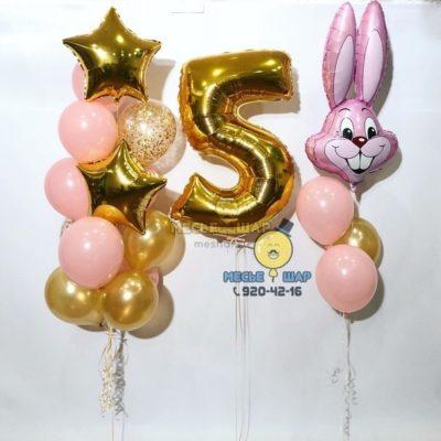 Зайчик с шарами - набор из воздушных шаров