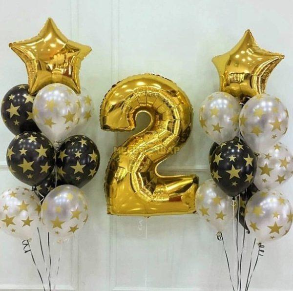 Звездное золото - набор из воздушных шаров