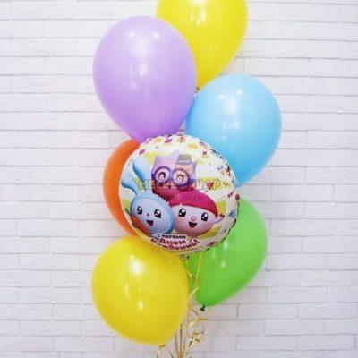 Фонтан Малышарики из воздушных шаров