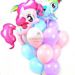 Набор Пони с воздушными шарами