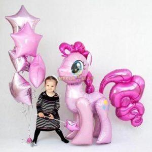 Набор розовая Пони с воздушными шарами