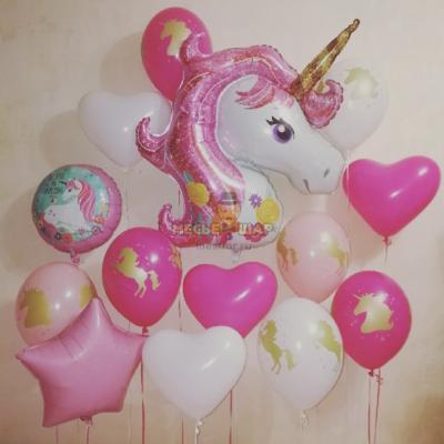 Набор с единорогом и воздушными шарами