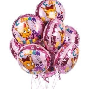 Связка Три кота из воздушных шариков