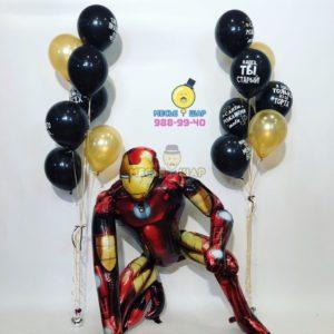 Железный человек из воздушных шаров