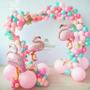 Арка нежнейшая с фламинго