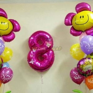Цветочное 8 марта из шаров
