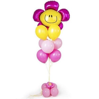 Фонтан цветочек из шаров к 8 марта