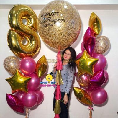 Набор Поздравления к 8 марта из шаров