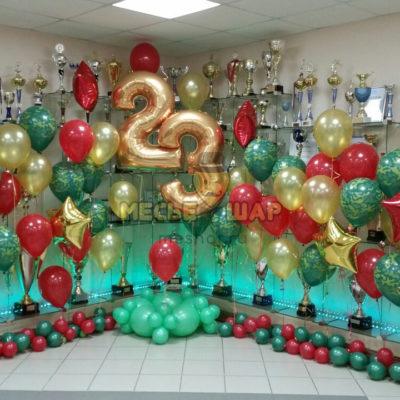 Оформление к 23 февраля из шариков