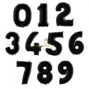 Черные шары цифры