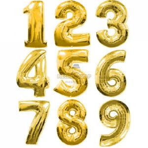 Золотые шары цифры