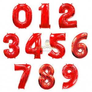 Красные шары цифры