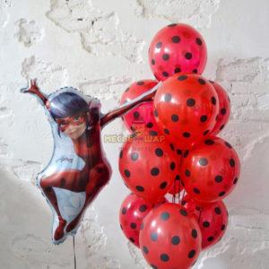 Набор 8 Леди Баг из шаров
