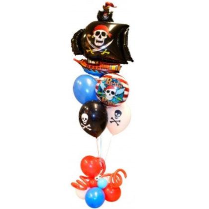 Пиратский фонтан 2 из шаров