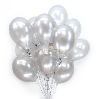 Серебристые шары Пастель