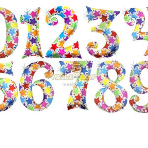 Звездные шары цифры