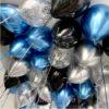 """Шары """"Хром, синий и черный"""", 50 шт"""