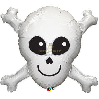 Череп с костями 85 см
