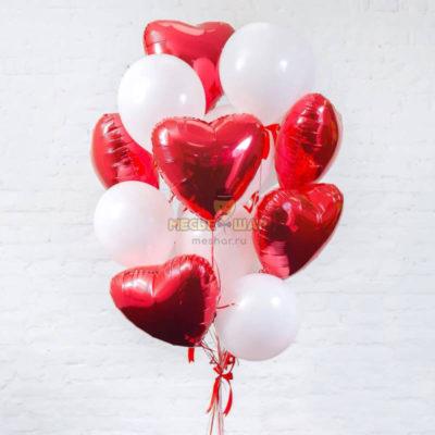 Фонтан из шаров Чистая любовь