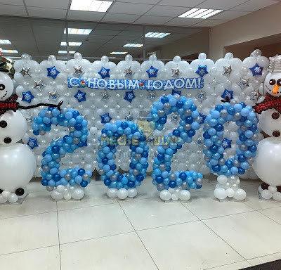 Фотозона со снеговиками, 2x4 м