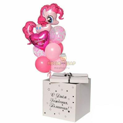 Праздничная коробка с пони