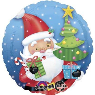 Круг Санта с елкой, 45 см