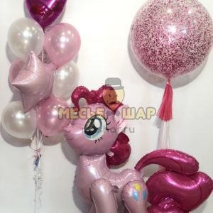 Любимая Пинки Пай из шаров