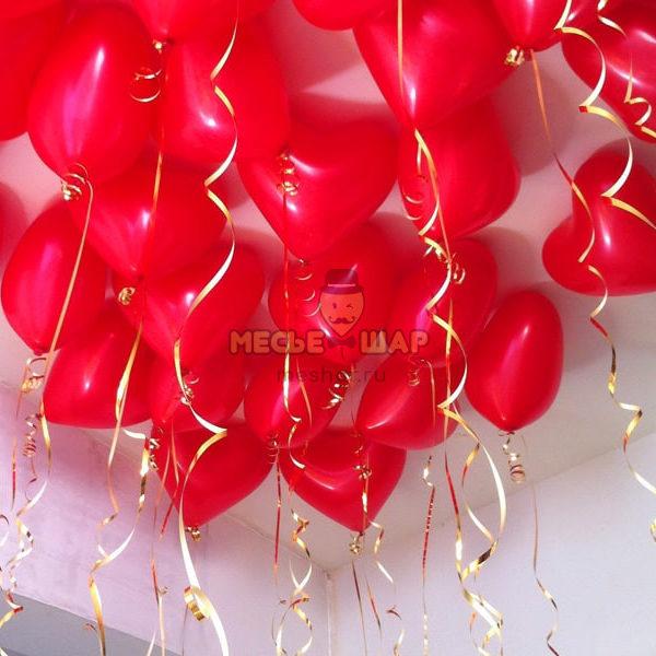 """30 шаров """"Красные сердца"""""""