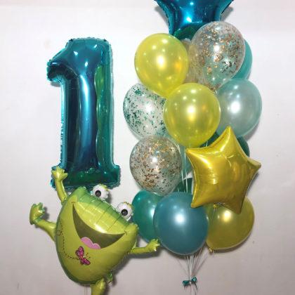 Веселей лягушонок из шаров