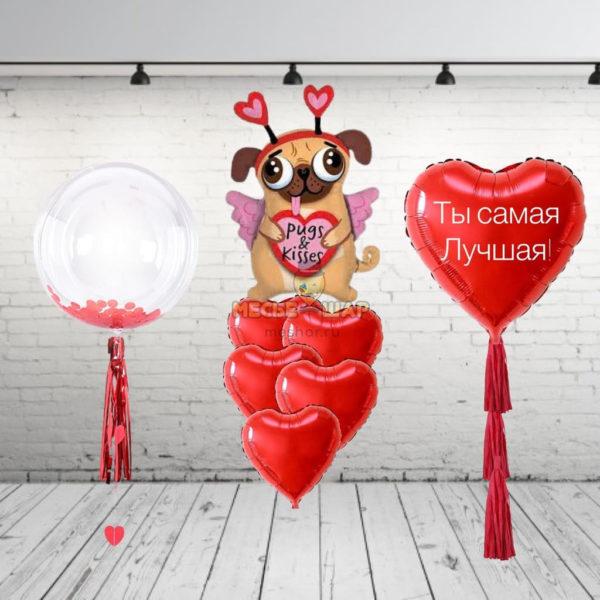 Влюбленный мопс