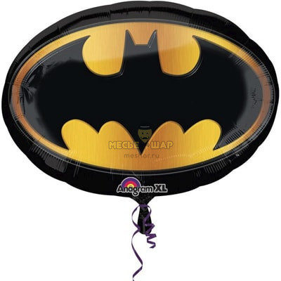 Значок Бэтмен шар 75см