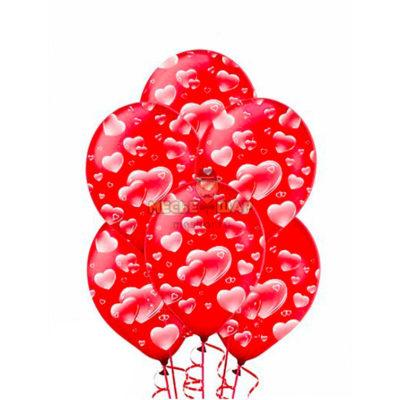 100 шаров с сердцами