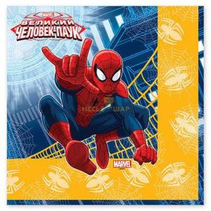 Салфетка Marvel Человек-Паук 33см 12шт/G