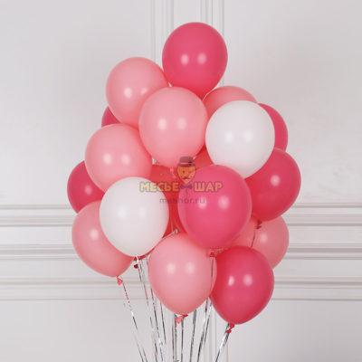 100 шаров (красные-розовые-белые)