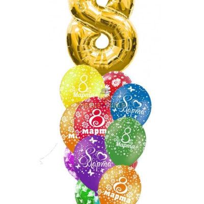 10 шаров + цифра