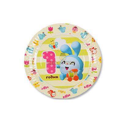 Тарелка бум Малышарики 1ГОДИК 17см 6шт/G