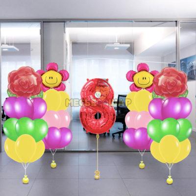 Пакеты 2 8 марта из шаров